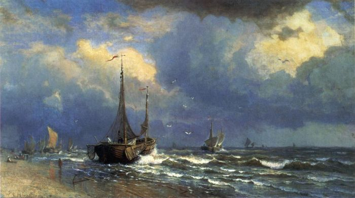 William Stanley Haseltine  Reproductions-Dutch Coast, 1883