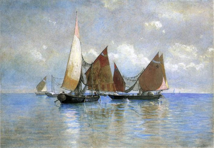 William Stanley Haseltine  Reproductions-Venetian Fishing Boats, 1880