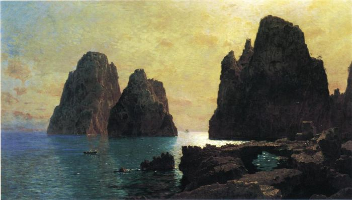 Paintings Reproductions Haseltine, William Stanley The Faraglioni Rocks, 1870