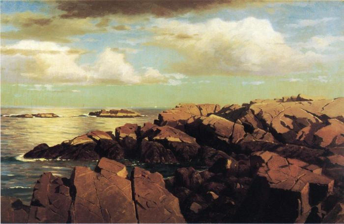 William Stanley Haseltine  Reproductions-After a Shower, Nahant, Massachusetts, 1864
