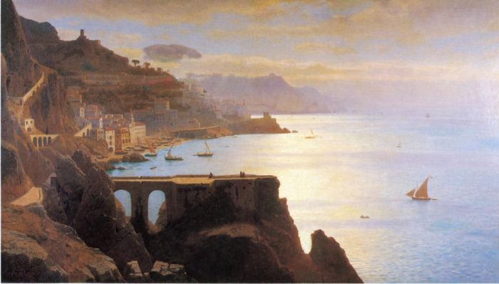 Paintings Reproductions Haseltine, William Stanley Amalfi Coast, 1867