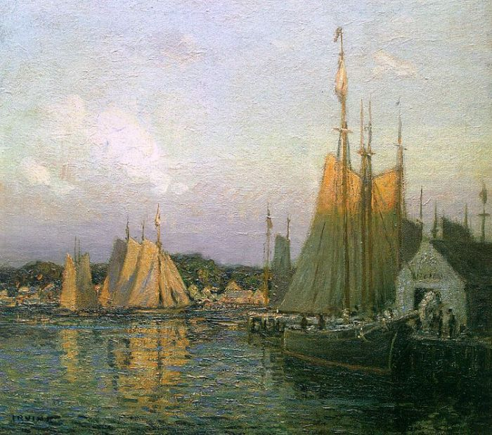 IWilson Henry Irvine Reproductions-Evening in the Harbor, 1910
