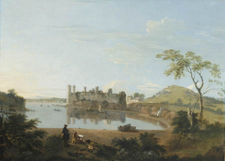 Paintings Reproductions Wilson, Richard Caernarvon Castle, 1744