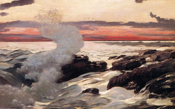 Paintings Reproductions Homer, Winslow West Point, Prout's Neck, 1900
