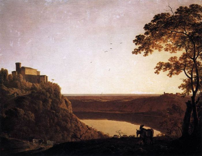 Joseph Wright Reproductions-View of the Lake of Nemi, 1790