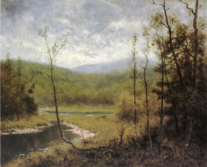 Paintings Reproductions Wyant, Alexander Helwig Quiet Stream, Adironcack Mountains
