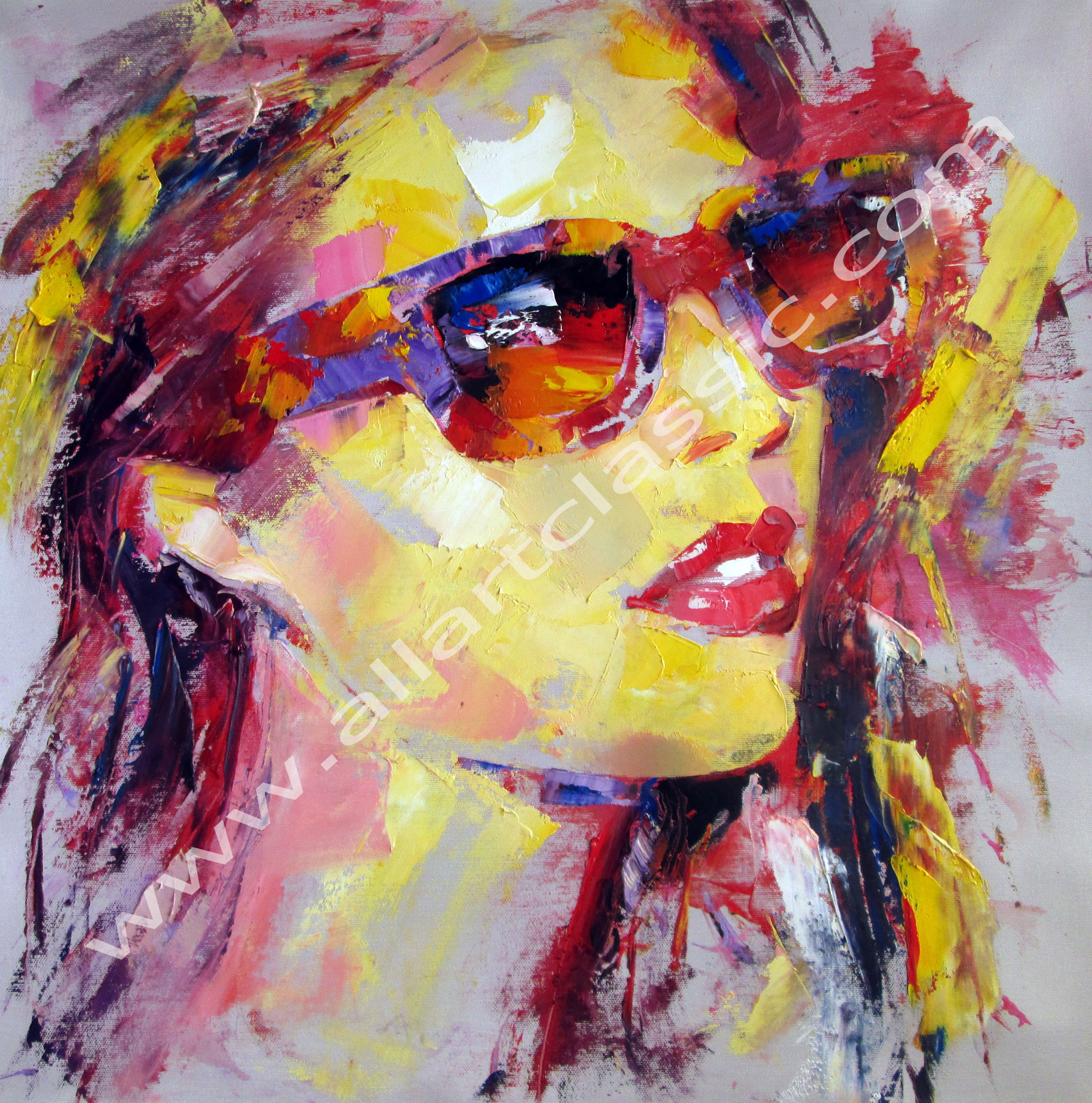 modern art paintings colorful palette knife and abstract art