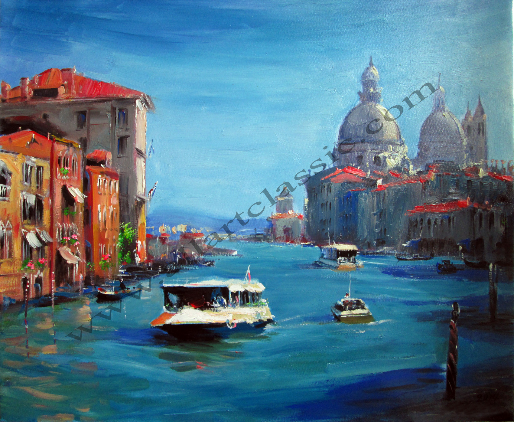 Original Oil Painting - The Grand Canal in Venice