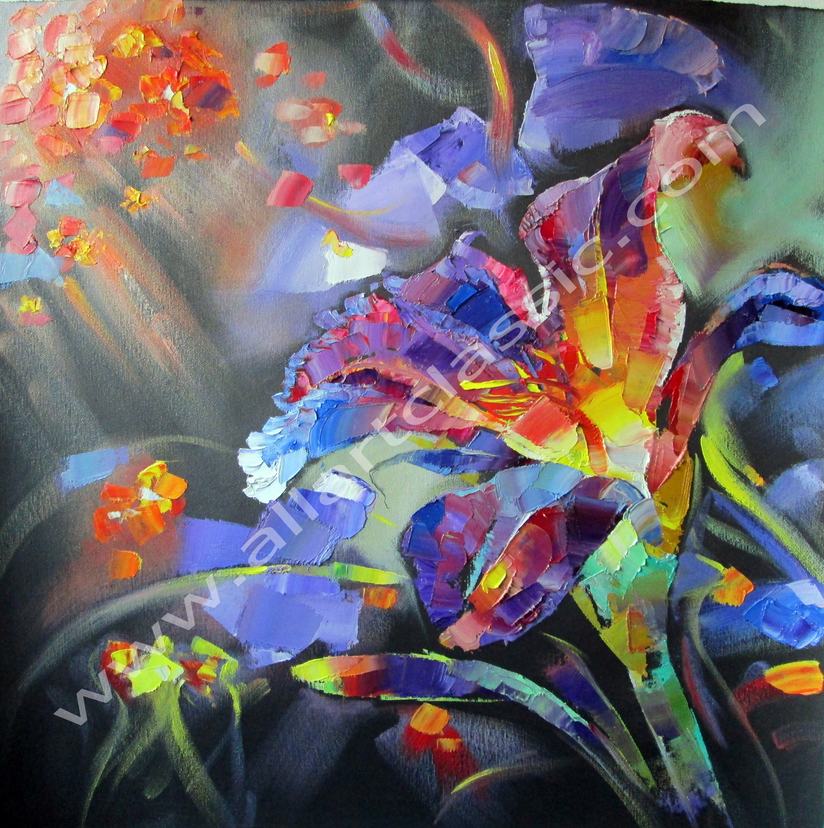 Acrylic paintings of irises best painting 2018 for Best mural paint