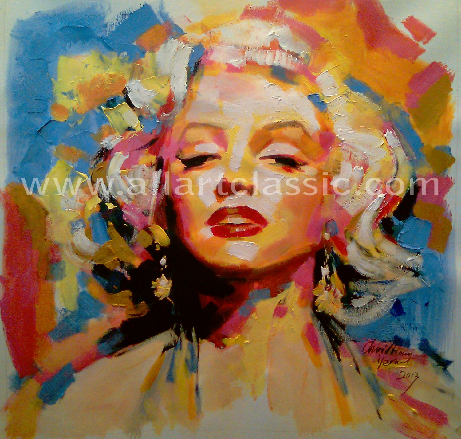 Original Oil Painting - Portrait of Marilyn