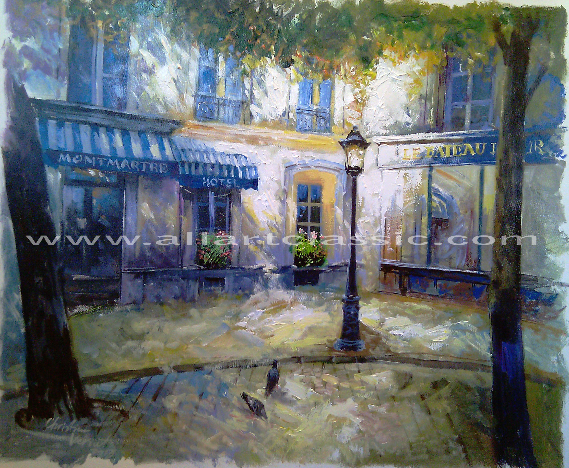 Original Oil Painting - Paris Le Bateau Lavoir