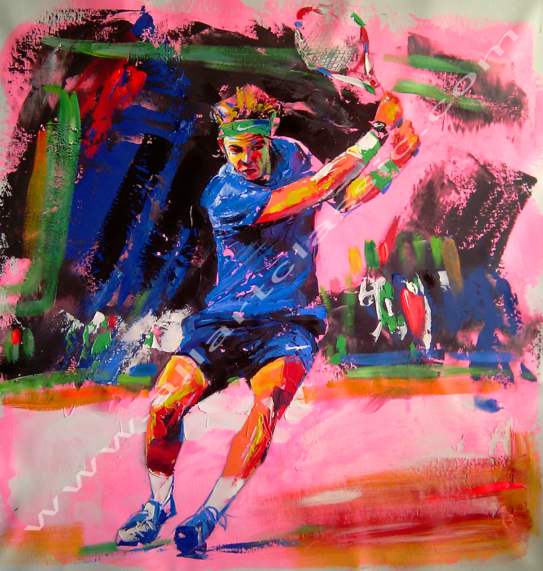 Original Oil Painting - Rafa Nadal