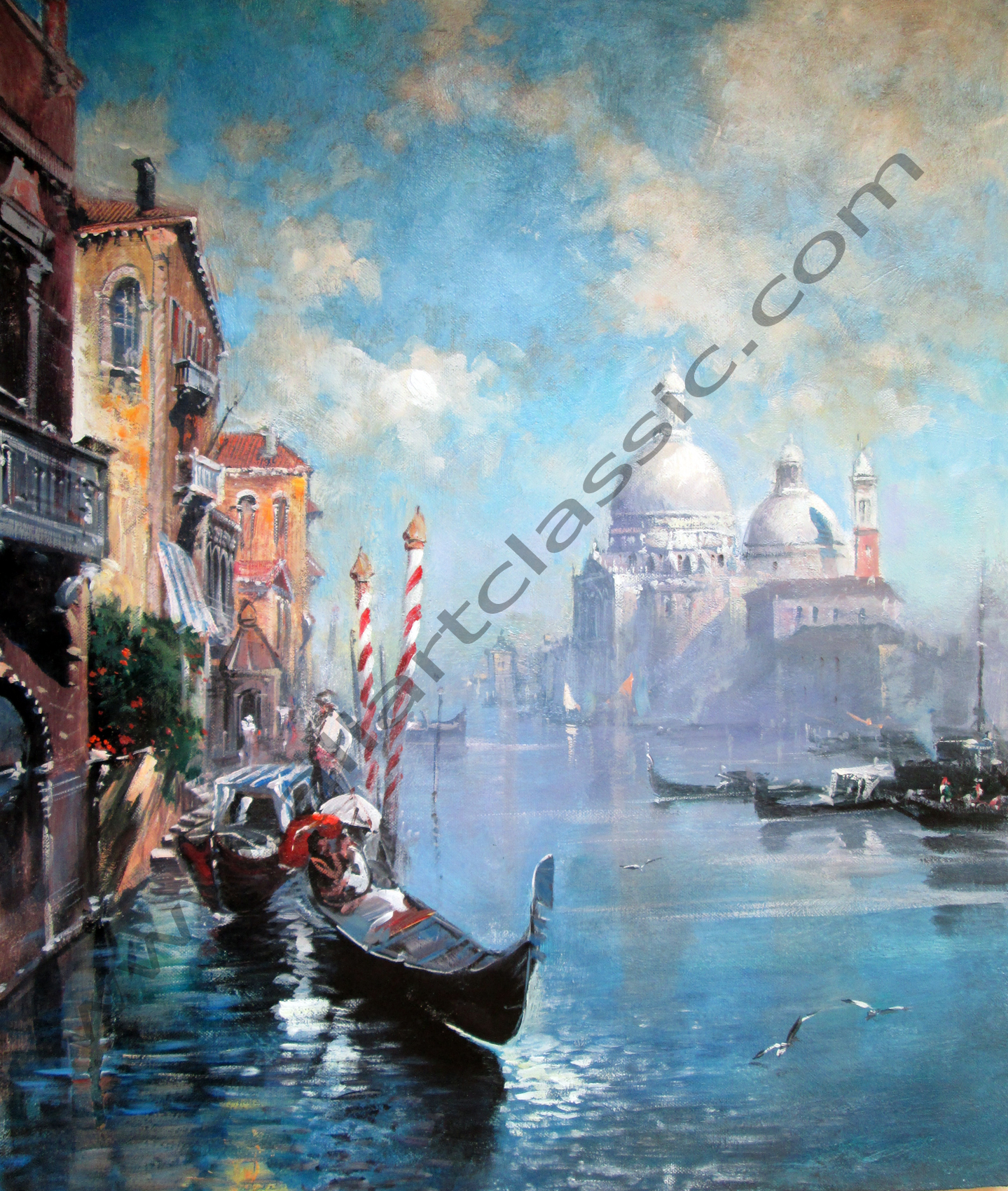 Original Oil Painting - Venice Landscape, The Grand Canal