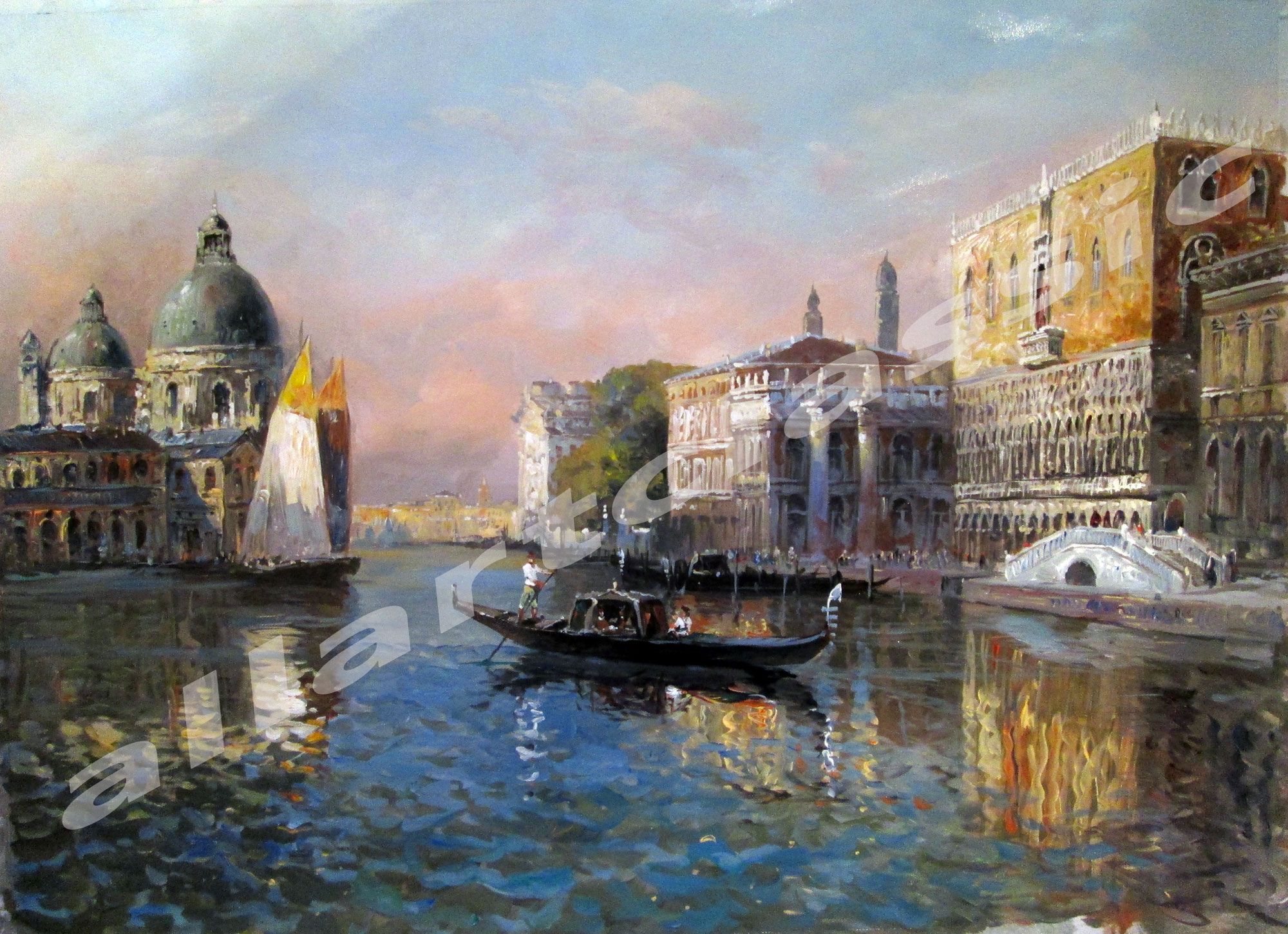 Original Art Romance in Venice