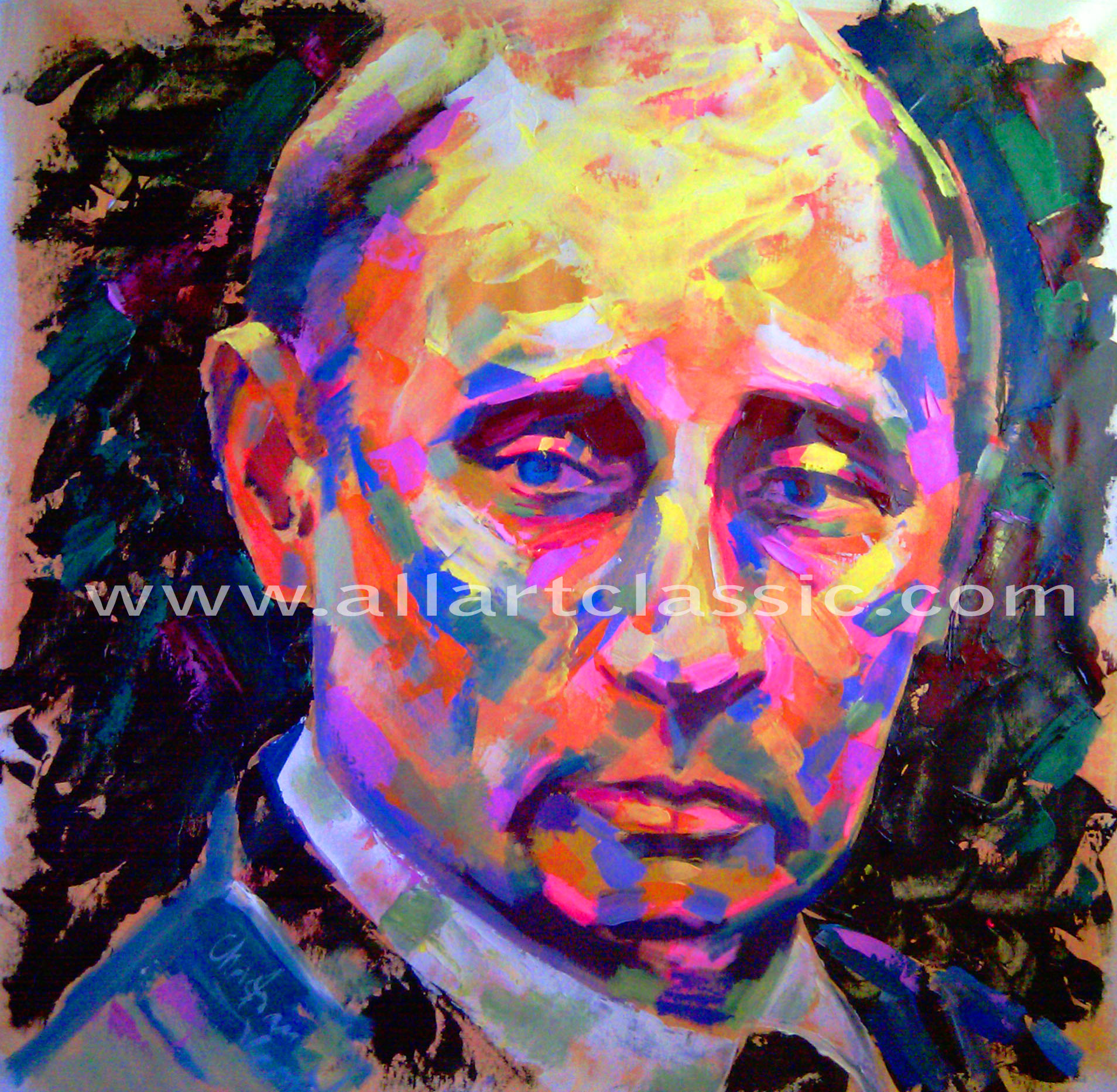 Original Oil Painting - Portrait of Vladimir Putin