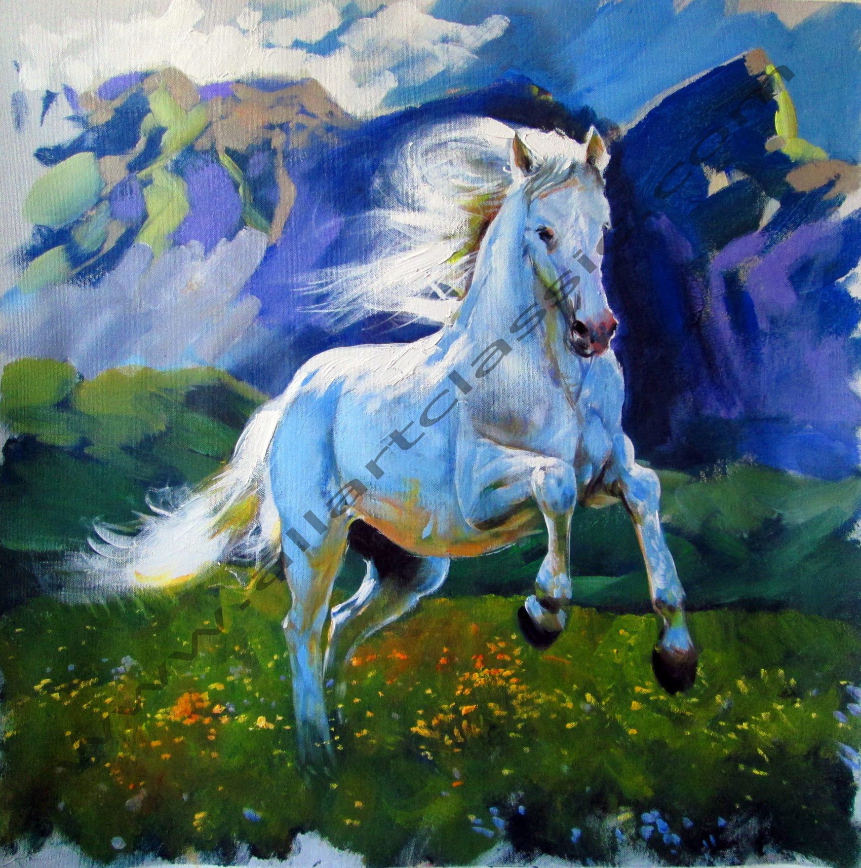 Animals, Horses Paintings