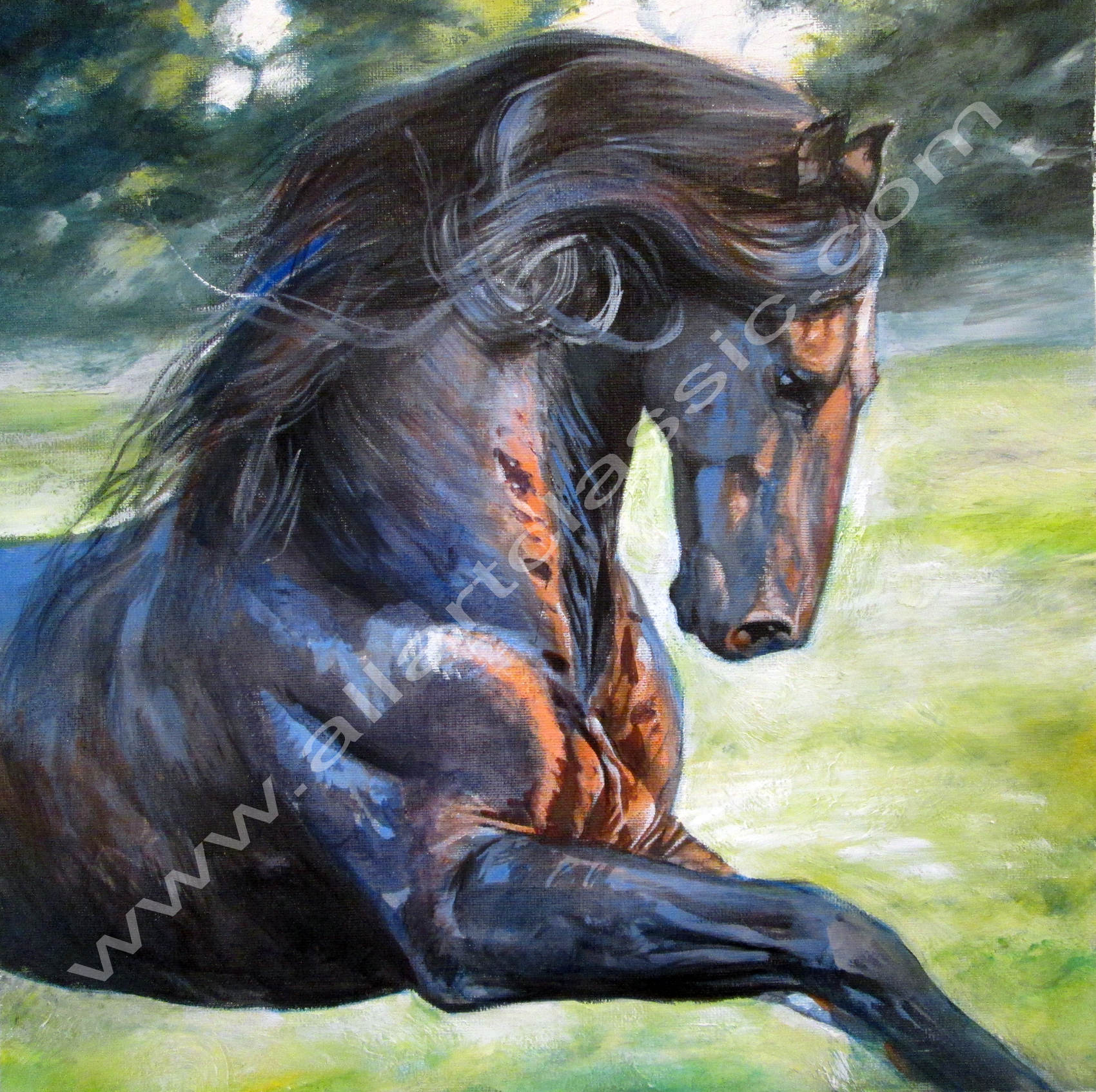 Horse paintings and family portraits