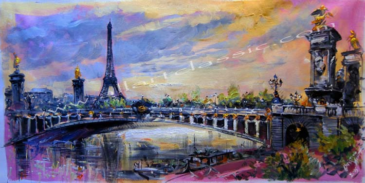 Original Oil Painting - Pont Alexandre III
