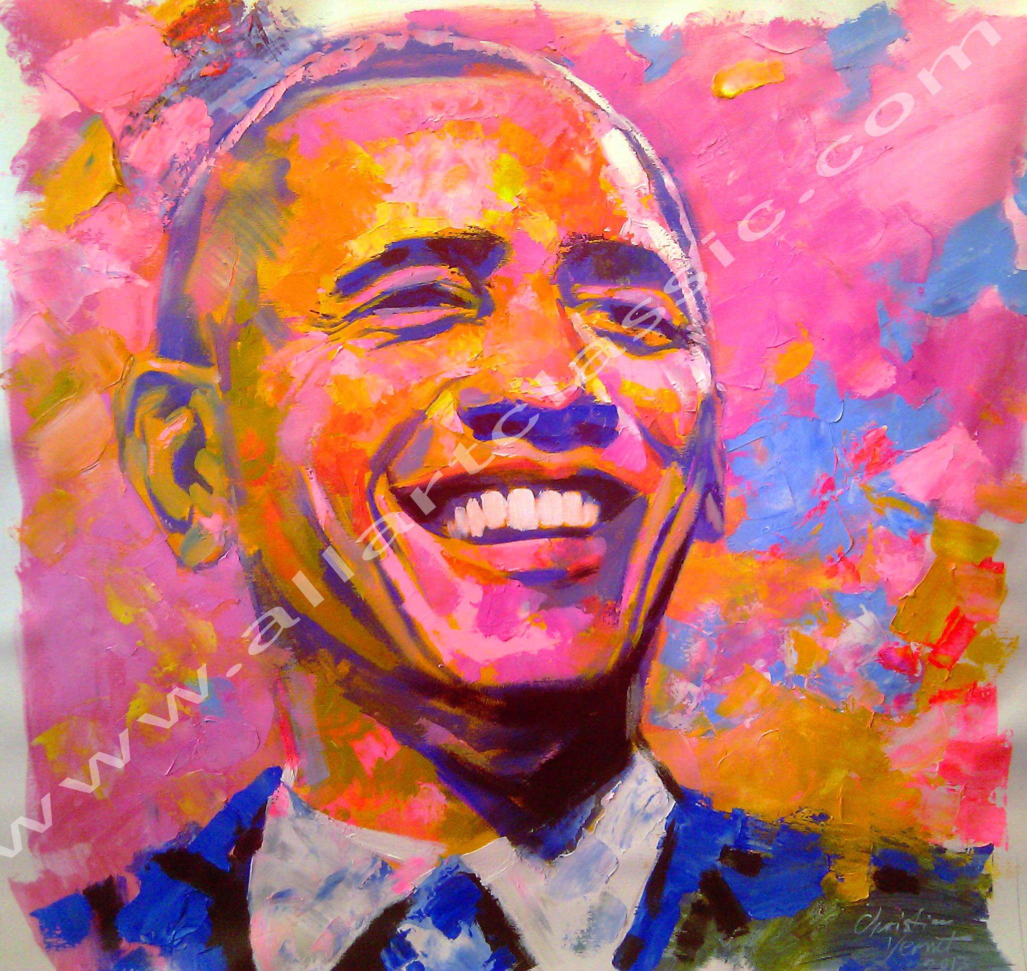 Original Oil Painting - President Obama
