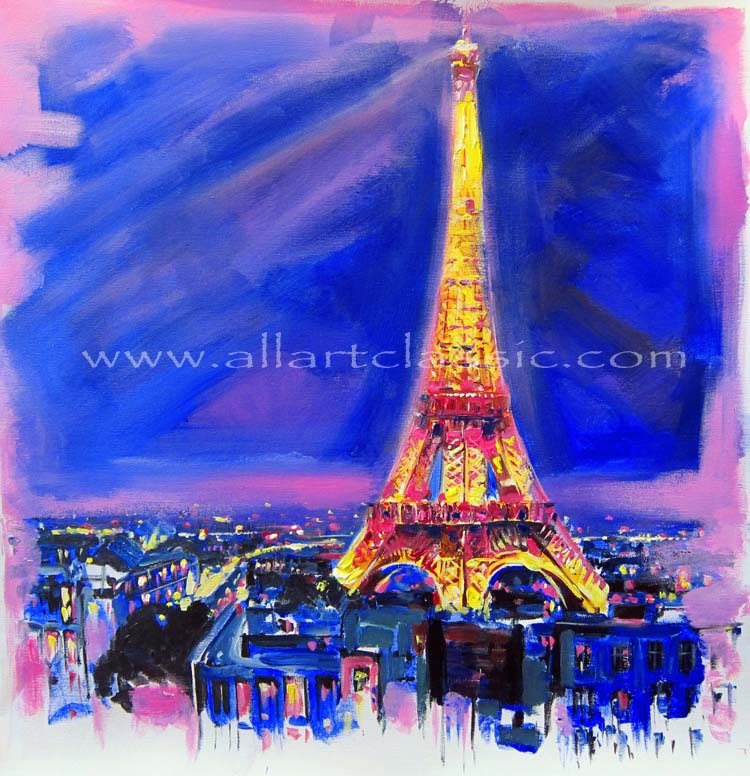 Oil Painting Of The Eiffel Tower
