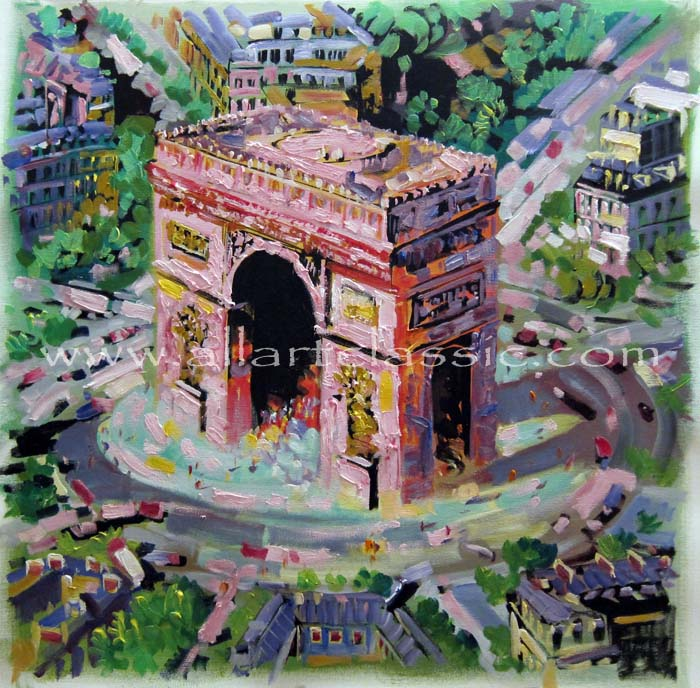 Original Oil Paintings-The Arc de Triomphe