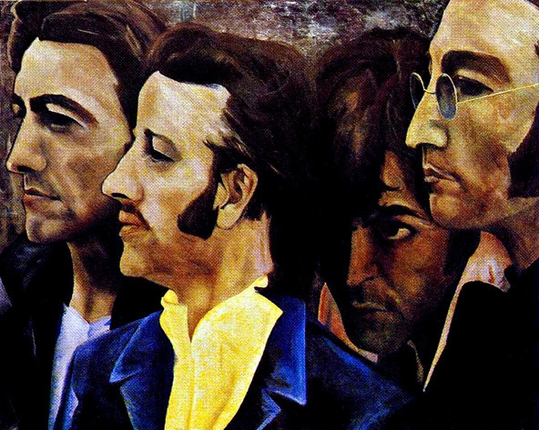 Custom PaintingsReproductions-The Beatles