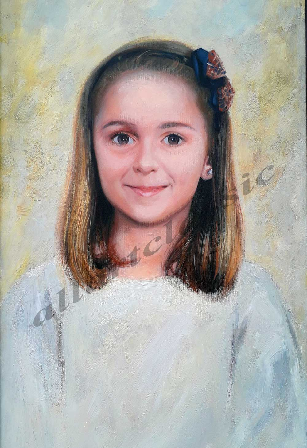 Birthday Gift Portrait Oil Painting from Photo