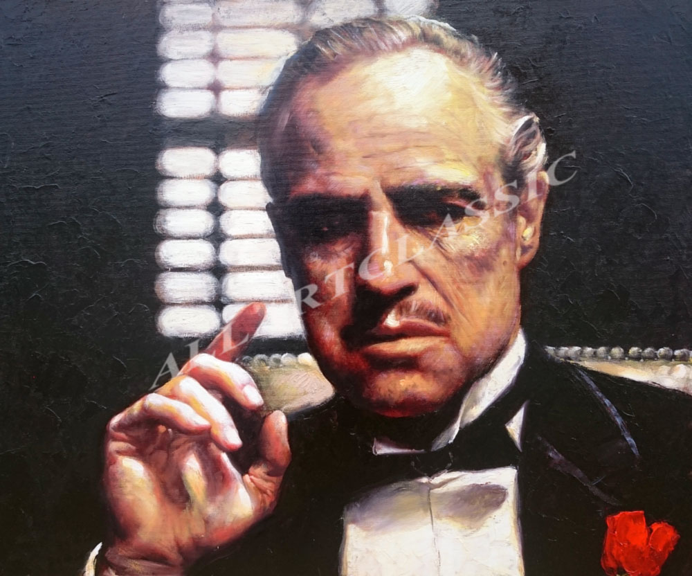 The Godfather Portrait Oil Painting from Photo