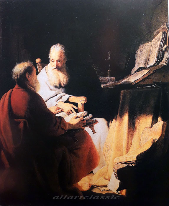 Paintings Reproductions Rembrandt, Harmensz van Rijn Apostles Peter and Paul, 1628
