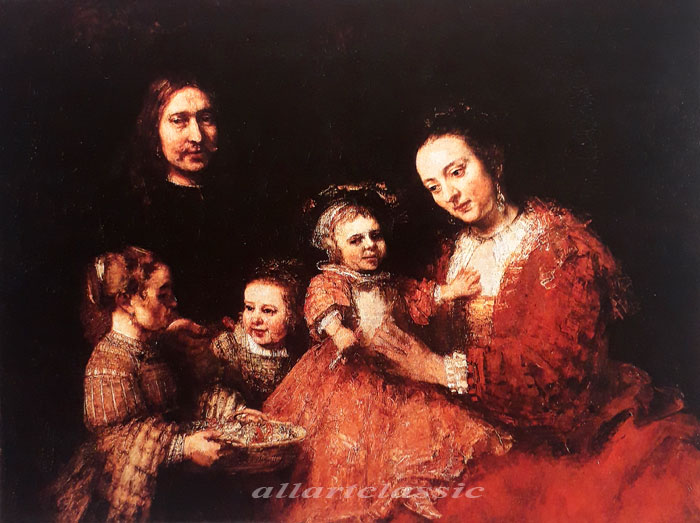 Paintings Reproductions Rembrandt, Harmensz van Rijn Family Portrait, 1668