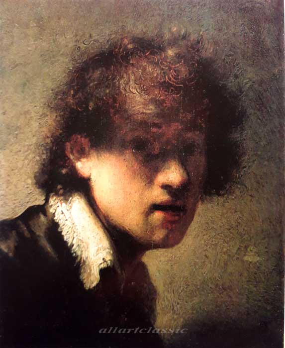 Paintings Reproductions Rembrandt, Harmensz van Rijn Self Portrait at Age 23, 1629