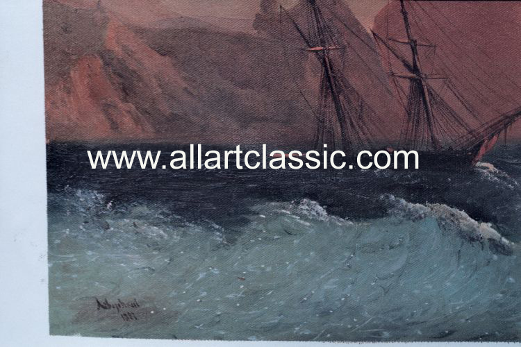 Art Reproductions Aivazovsky_003N_A. Our Oil Painting Reproduction -Zoom Details