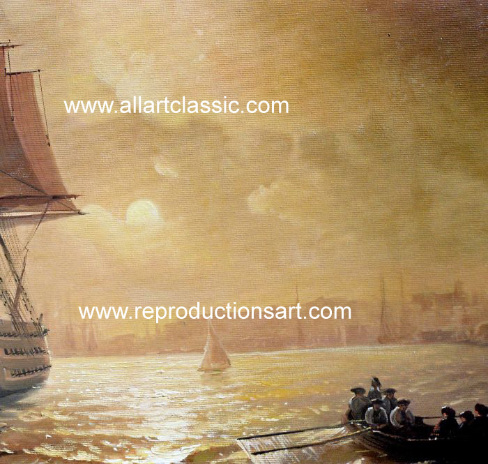 Art Reproductions Aivazovsky_056N_B. Our Oil Painting Reproduction -Zoom Details