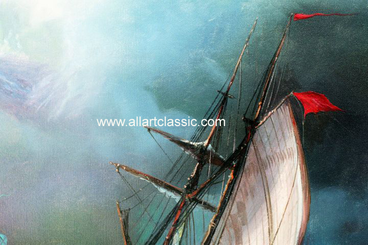 Art Reproductions Aivazovsky_111N_C. Our Oil Painting Reproduction -Zoom Details