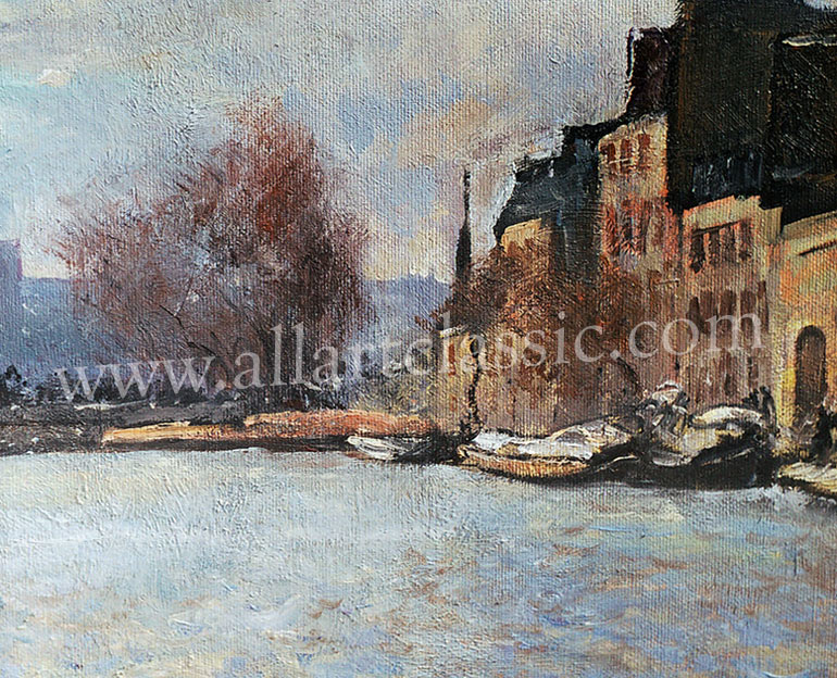 Art Reproductions Alfred_Sisley_SIA040N_B. Our Oil Painting Reproduction -Zoom Details