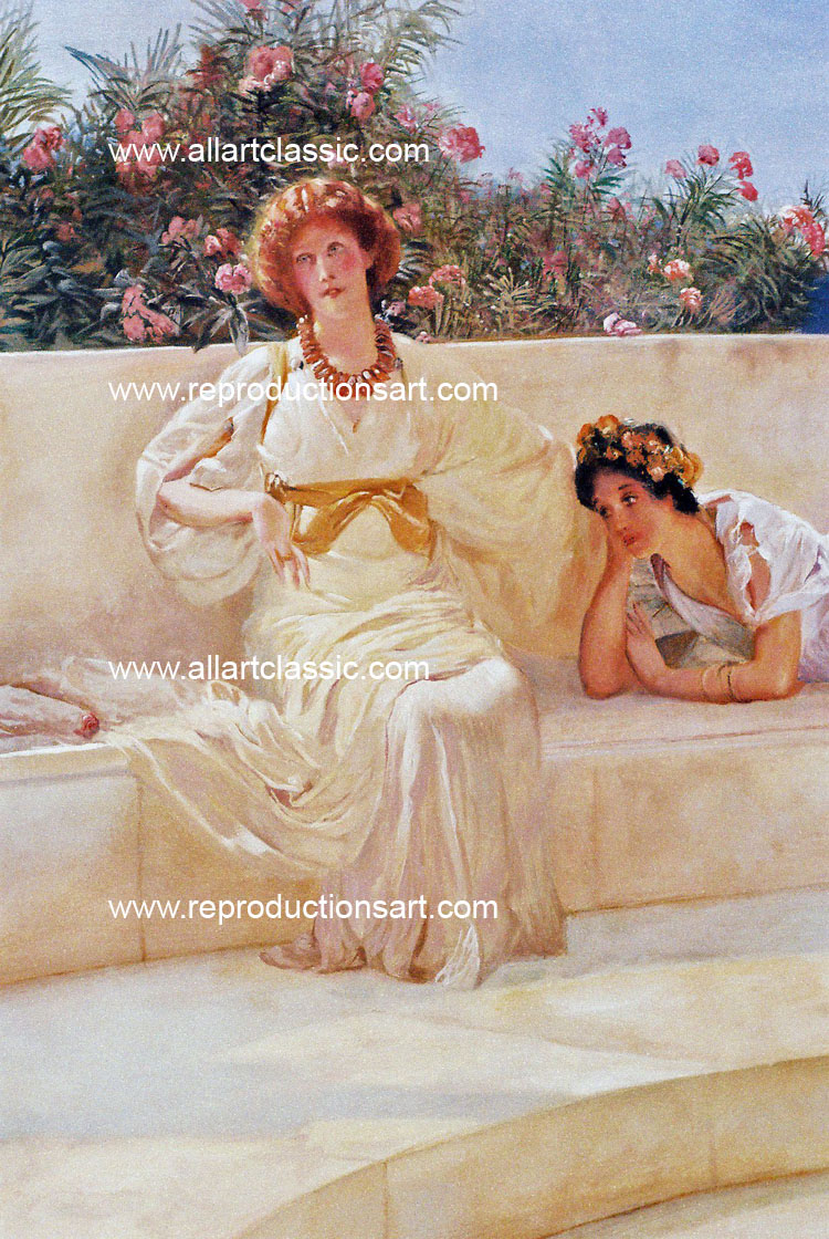 Art Reproductions Alma-Tadema-hand-painted-N_A. Our Oil Painting Reproduction -Zoom Details
