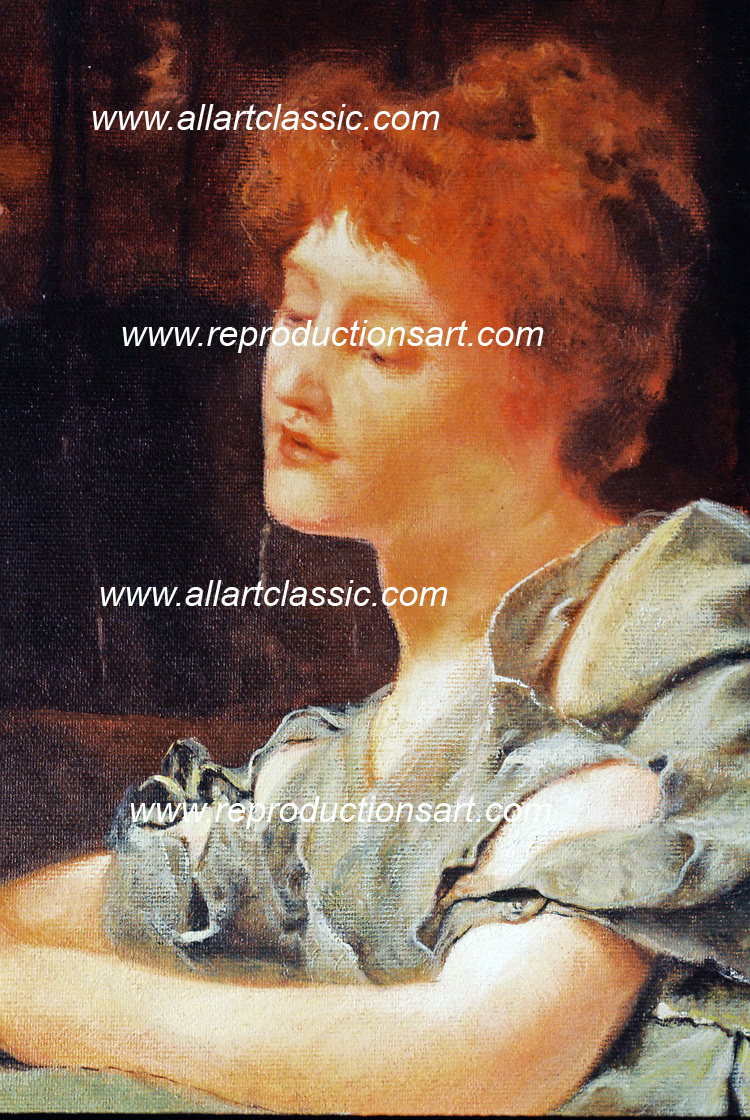 Art Reproductions Alma_Tadema_Rivals_001N_B. Our Oil Painting Reproduction -Zoom Details