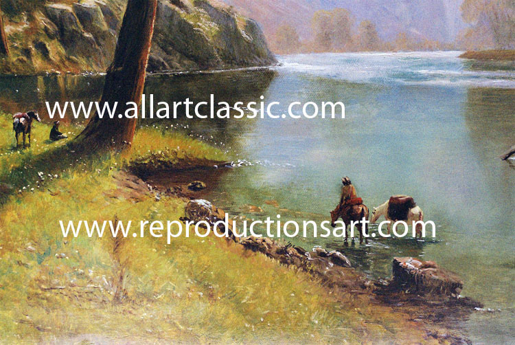 Art Reproductions Bierstadt-oil-painting-1N_A. Our Oil Painting Reproduction -Zoom Details