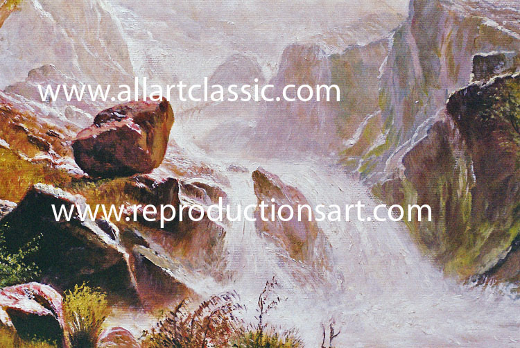 Art Reproductions Bierstadt-painting-12N_A. Our Oil Painting Reproduction -Zoom Details