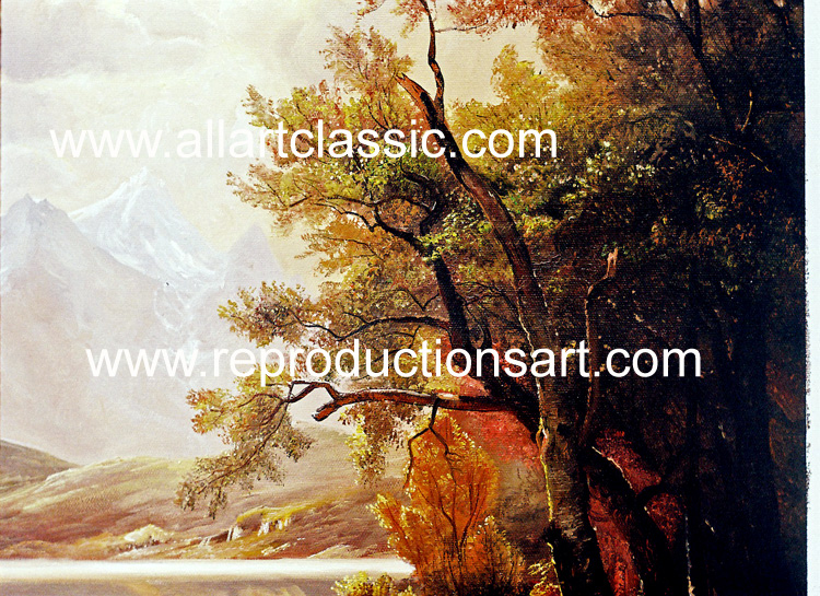 Art Reproductions Bierstadt_011N_A. Our Oil Painting Reproduction -Zoom Details