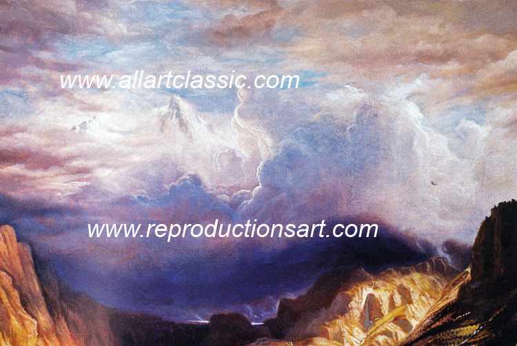 Art Reproductions Bierstadt_Painting_008N_A. Our Oil Painting Reproduction -Zoom Details