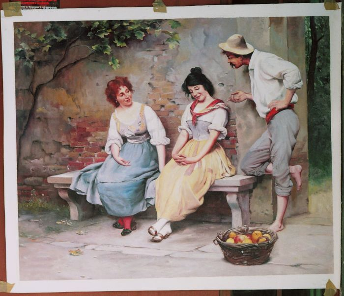 Eugene de Blaas Painting Work sample