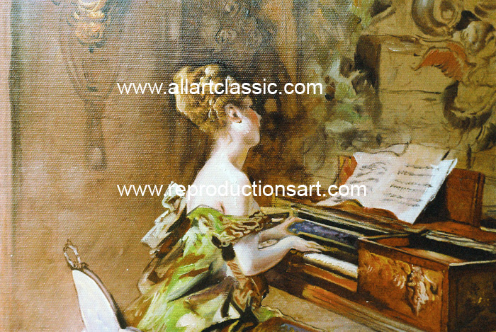 Art Reproductions Boldini_Paintings_2_001N_B. Our Oil Painting Reproduction -Zoom Details