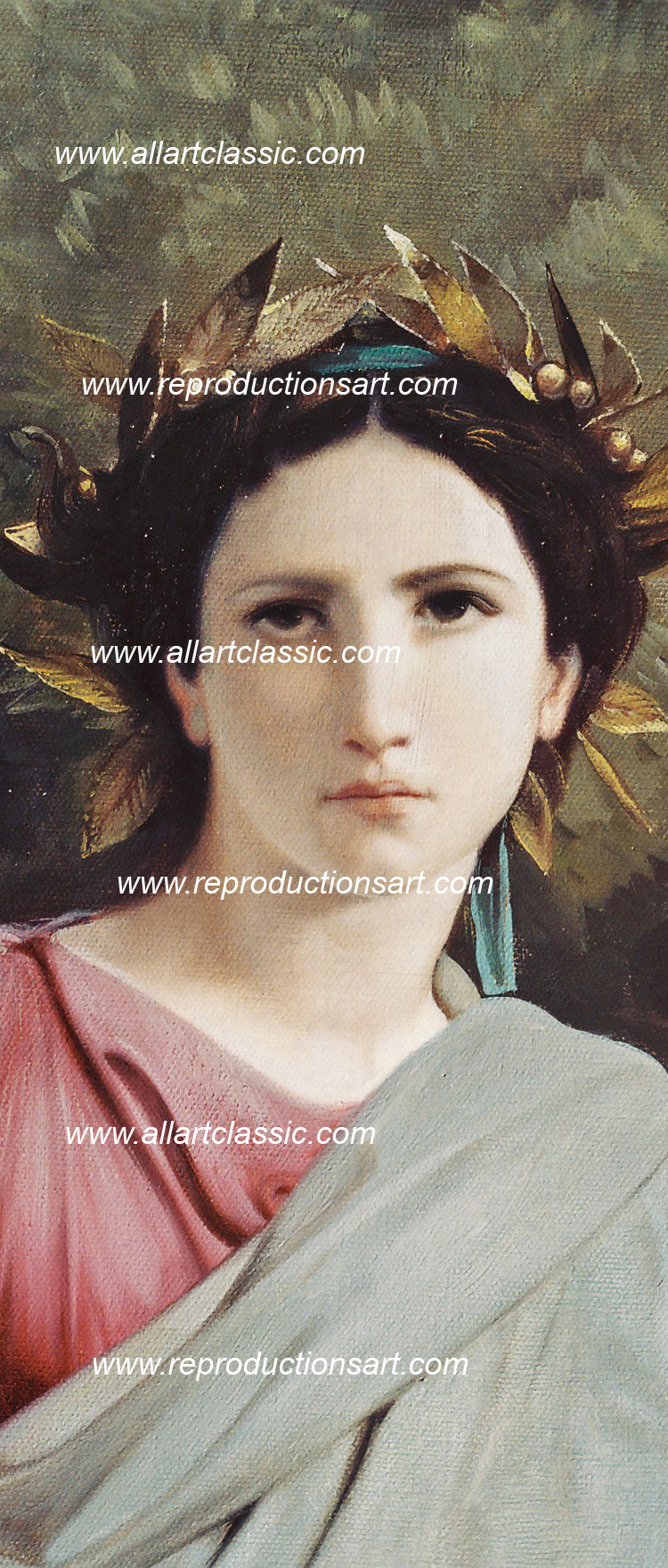 Art Reproductions Bouguereau-painting_009N_B. Our Oil Painting Reproduction -Zoom Details