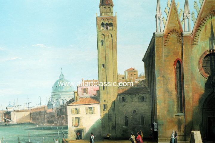 Art Reproductions Canaletto_010N_B. Our Oil Painting Reproduction -Zoom Details