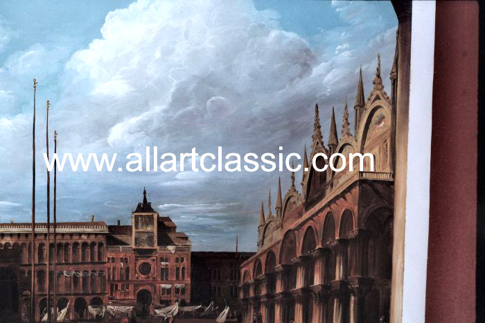 Art Reproductions Canaletto_Paintings_001N_C. Our Oil Painting Reproduction -Zoom Details