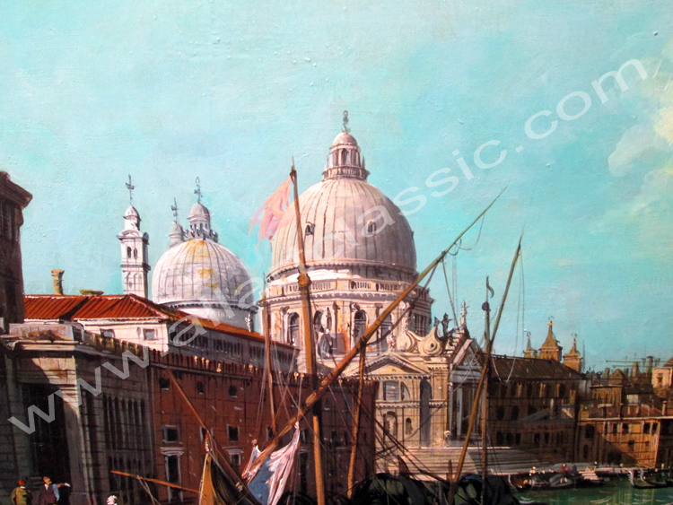 Oil Painting Reproductions Canaletto Painting - Grand Canal