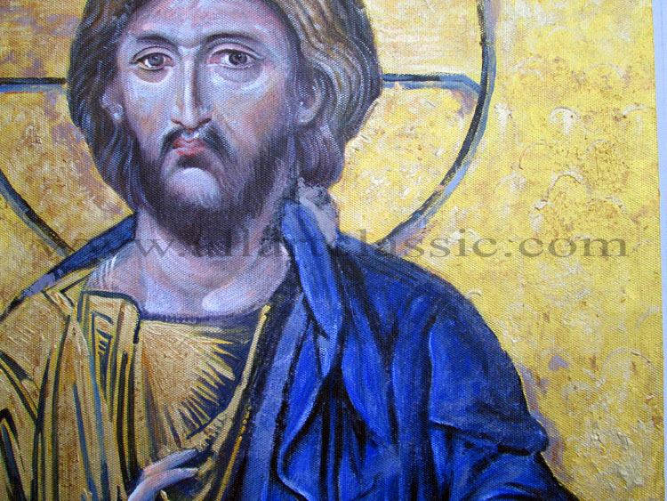 Art Reproductions Christ-Pantocrator-Painting_B. Our Oil Painting Reproduction -Zoom Details