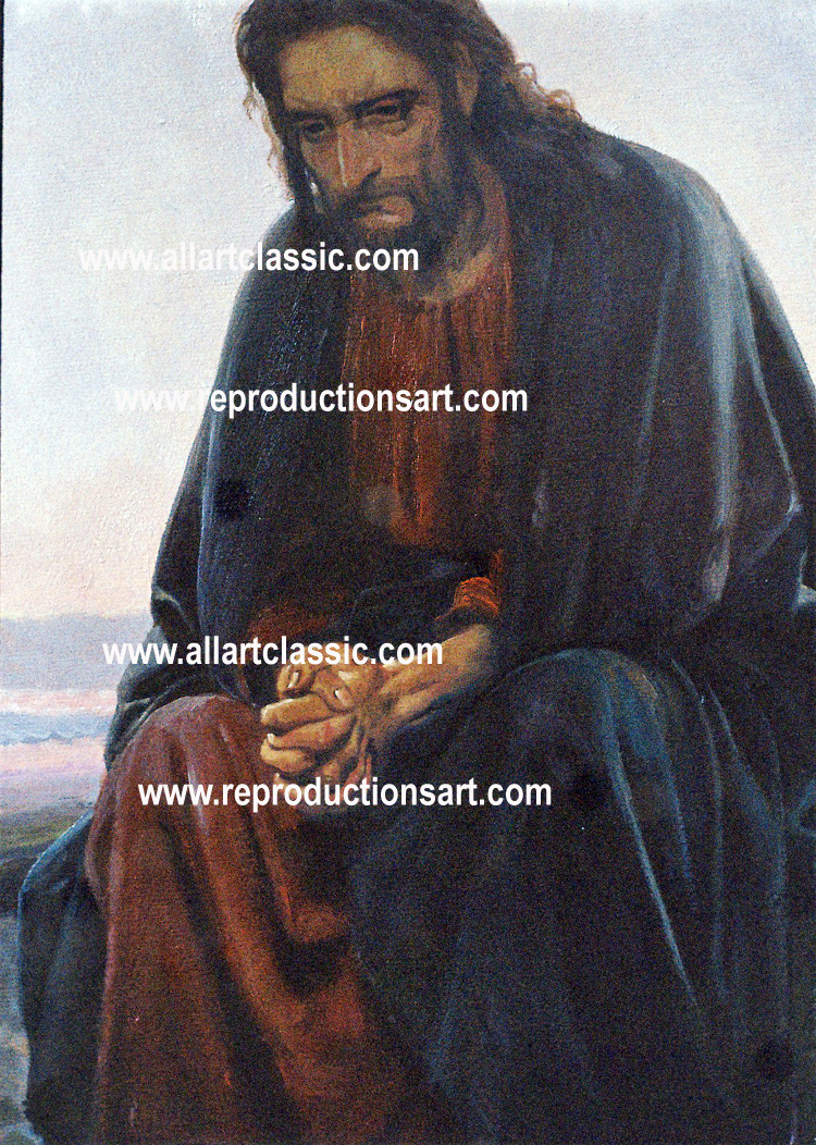Art Reproductions Christ-in-the-Wilderness-N_A. Our Oil Painting Reproduction -Zoom Details