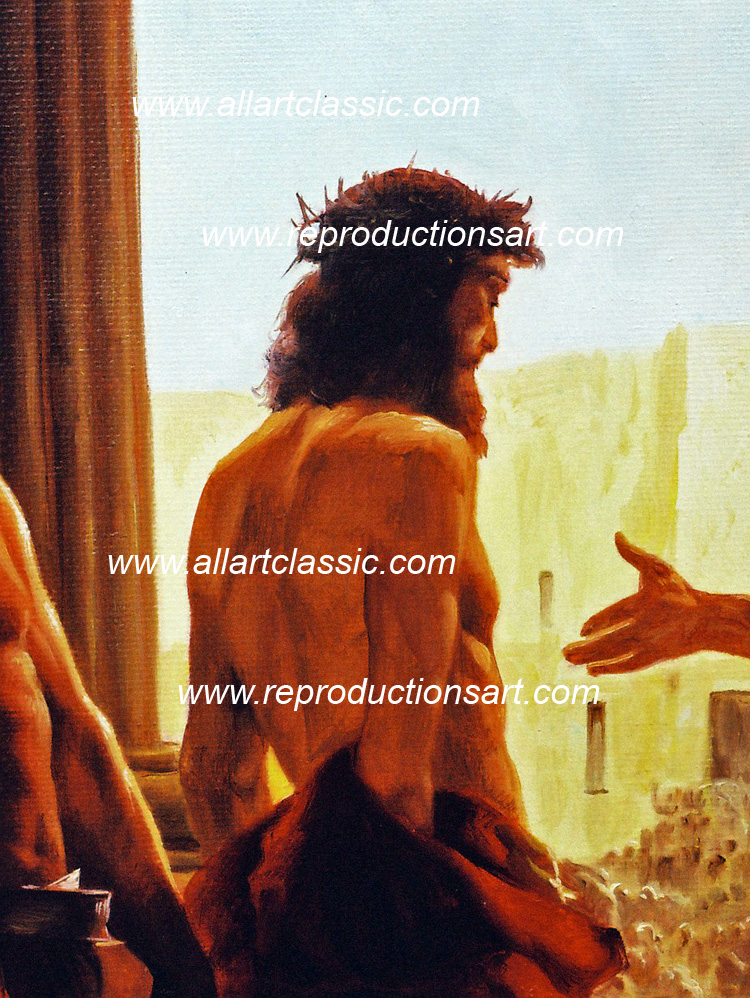 Art Reproductions Ciseri_Ecce_Homo_001N_A. Our Oil Painting Reproduction -Zoom Details